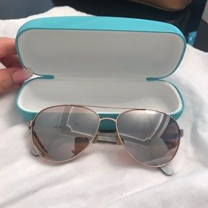 Kate Spade Rose Gold Aviator Sunglasses